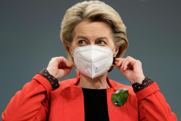 European Commission President Ursula von der Leyen addresses the media about the covid-19 passport