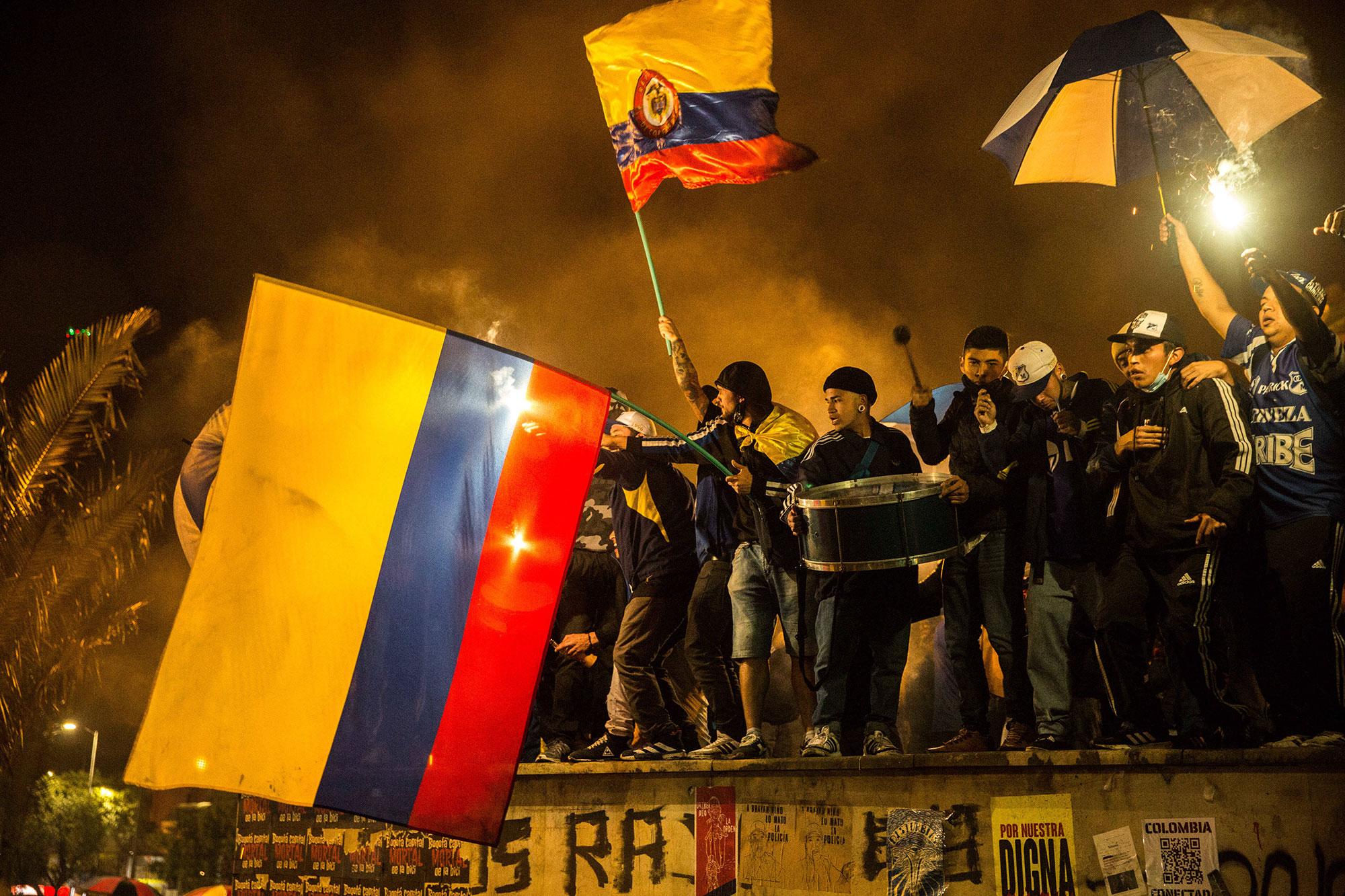 Manifestaciones Hacia Reforma En Colombia